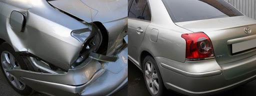 Фото пример до и после кузовного ремонта Тойота