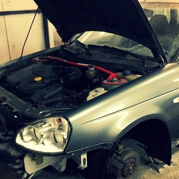 Фото результата комплексного ремонта кузова Lada