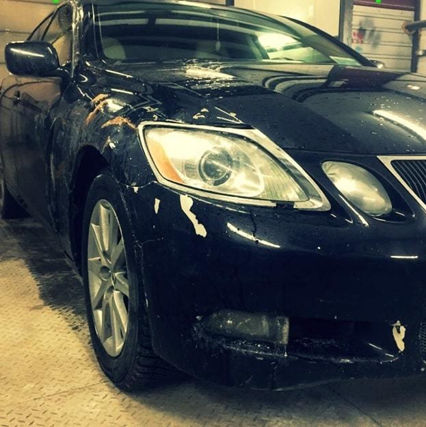 Фото повреждений Lexus