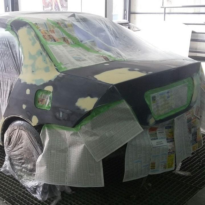 Фото во время ремонта Mitsubishi