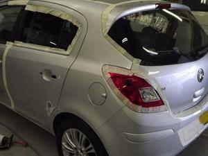 Фото процесса покраски авто