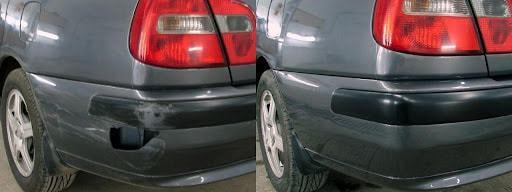 Фото до и после ремонта бампера