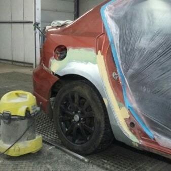 Фото во время ремонта Toyota
