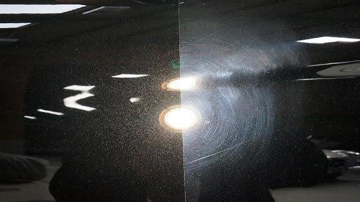 Фото до и после абразивной полировки авто