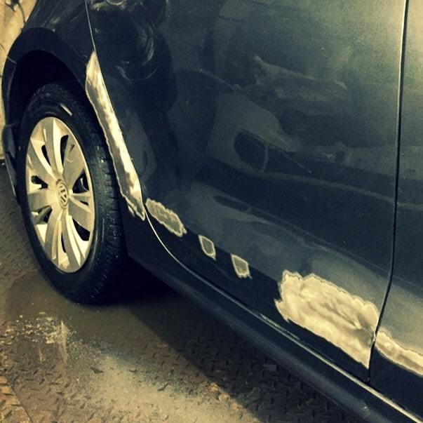 Фото процесса ремонта Volkswagen